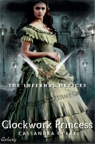 boeken to Read achtergrond possibly with a hoopskirt, a gown, and a bridal japon, jurk titled Clockwork Princess