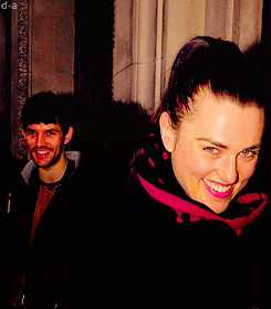 Colin and Katie Leaving BBC radio studios