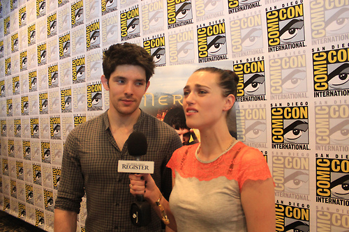 Colin Morgan couple