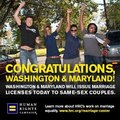 Congrats to Maryland and Washington - gay-rights photo