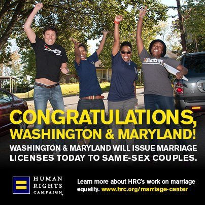 Congrats to Maryland and Washington