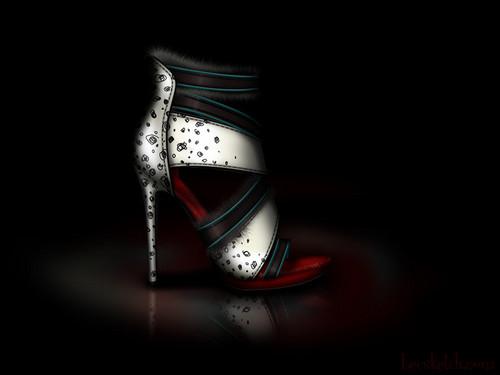 Cruella de Vil inspired shoe