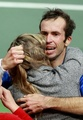 Crying Radek Stepanek - tennis photo