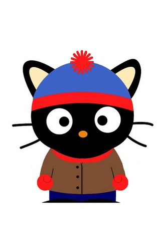Cute Hello kitty characters dressed in south park outfits