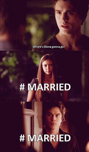 Damon and Elena Funny