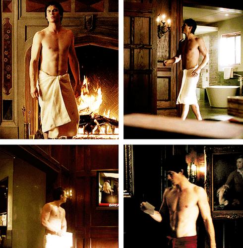 Damon and Towel