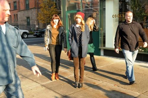 December 4 - Leaving the Cookshop Restaurant in New York City, New York