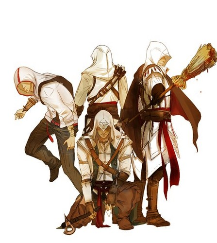 Desmond, Altair, Ezio And Connor