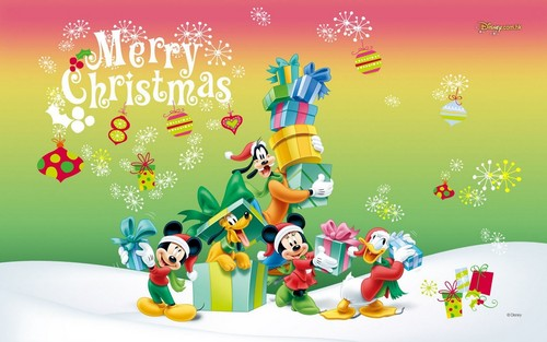 Disney پیپر وال titled Disney Christmas