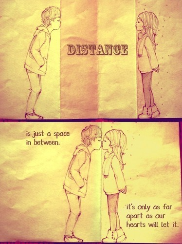 Distance is just a o espaço in between..