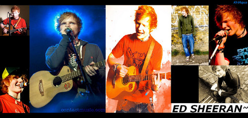 Ed Sheeran wallpaper with a guitarist and a concert entitled Ed Sheeran x