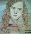 Emma Watson-Hermione Granger Harry Potter Drawing - harry-ron-and-hermione fan art
