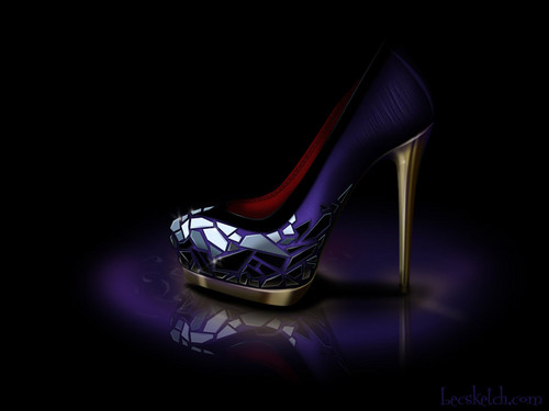 Evil Queen inspired shoe