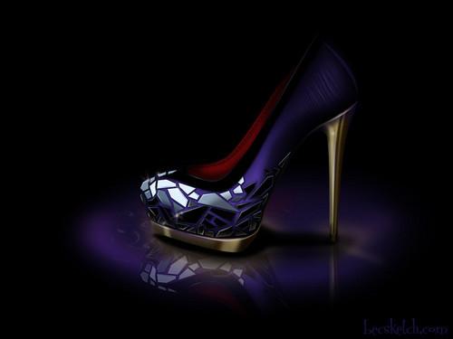 Evil クイーン inspired shoe