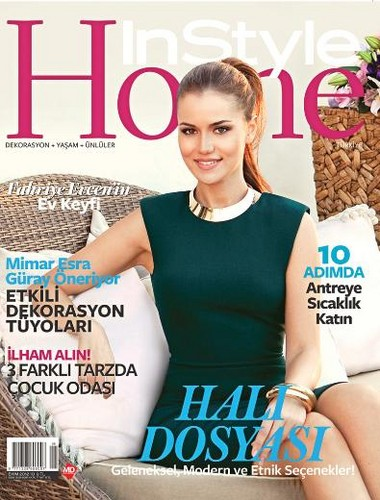 Fahriye Evcen on the cover of Instyle home pagina