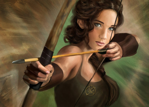 Katniss Everdeen fond d'écran titled fan art
