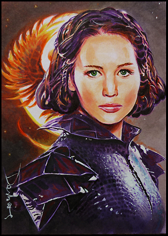 katniss everdeen wallpaper possibly containing a breastplate and anime called fan art