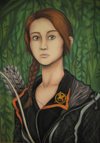Katniss Everdeen wallpaper probably with a portrait called Fan art