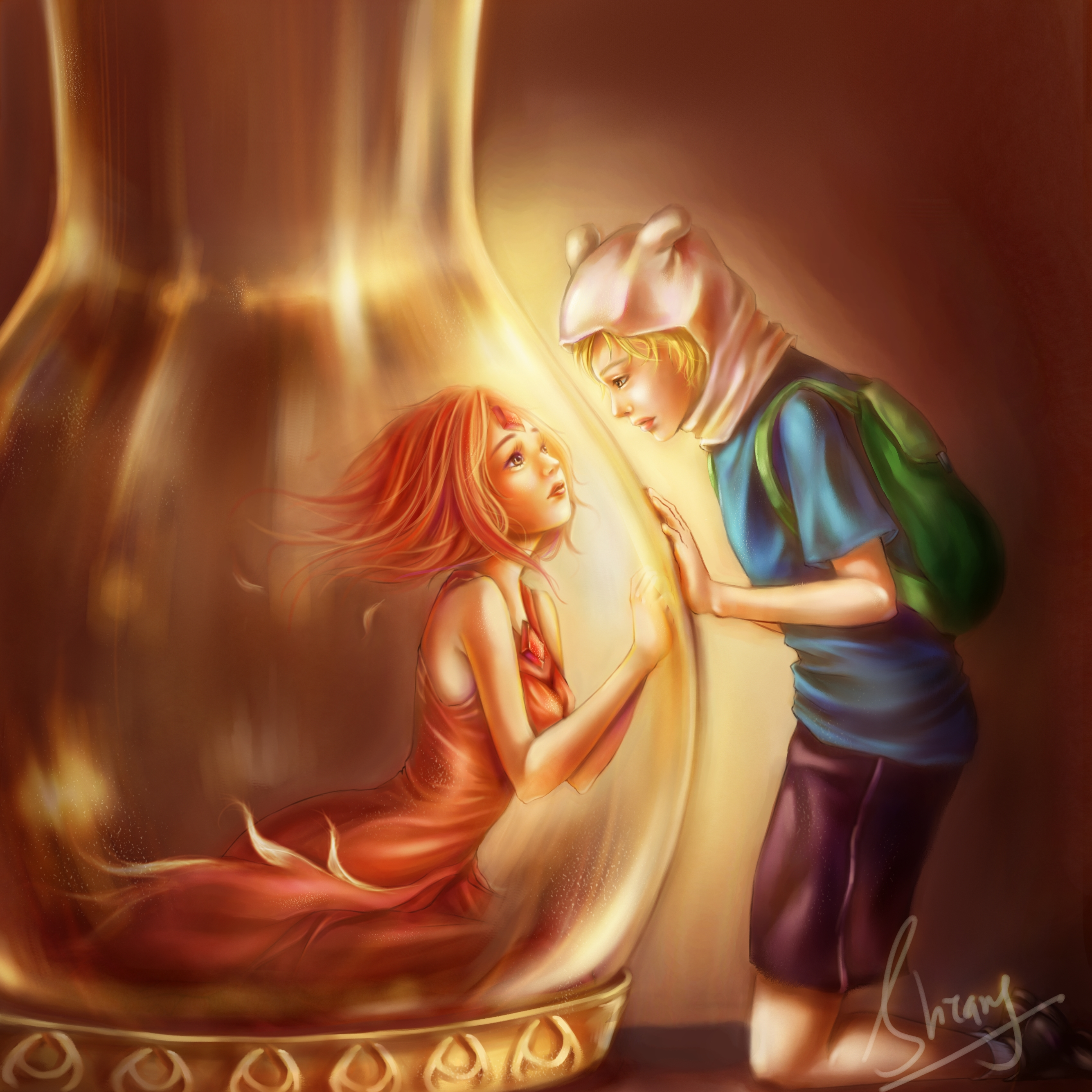 Finn & Flame princess - Adventure Time With Finn and Jake Fan Art ...