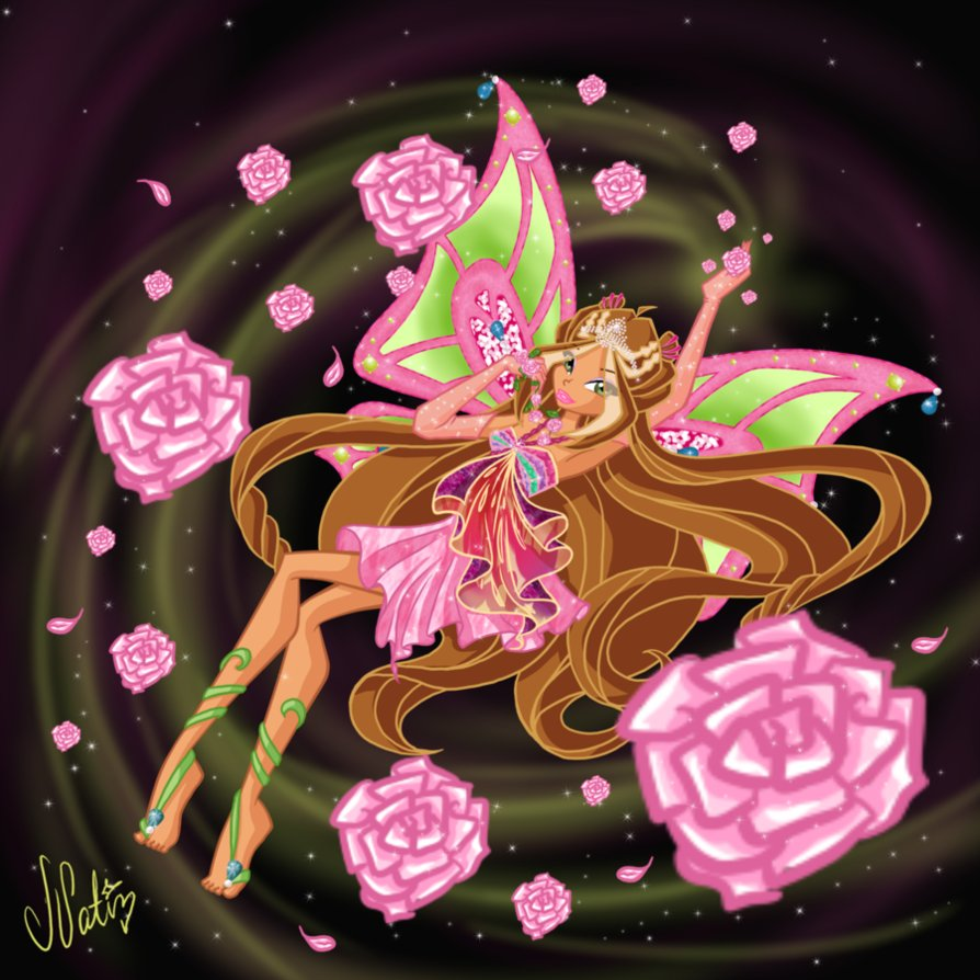The winx club flora enchantix
