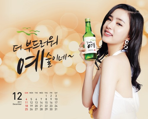 Shin Se Kyung achtergrond possibly containing a portrait entitled Fun Yeah Soju