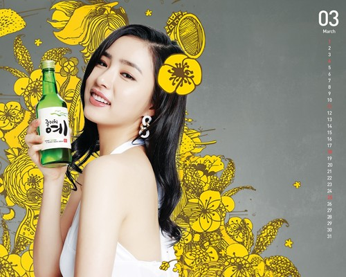 Shin Se Kyung wallpaper probably with a spurge, a winter jasmine, and a bridesmaid entitled Fun Yeah Soju