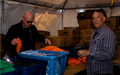 George helping Hurricane Sandy victims at Rockaway Beach
