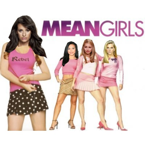 glee wallpaper containing a portrait called glee vs Mean girls