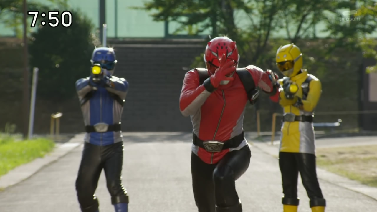 Tokumei Sentai Go-Busters images Go-buster Red, Blue, and ...