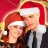 Robert Pattinson & Kristen Stewart photo possibly containing a surcoat and a portrait called Have a Merry Robsten Christmas