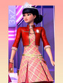 Isla PCS in Red jacke and Dress