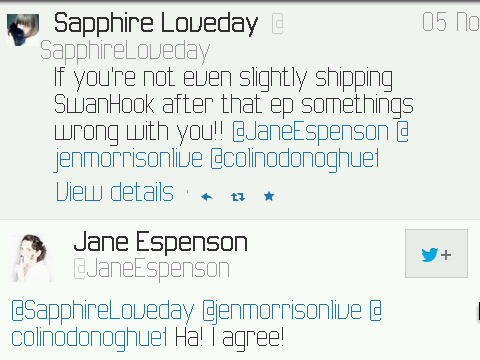 Jane Espenson (one of OUAT Main Writers) Ship Captain swan