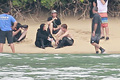 Jennifer Lawrence & Shirtless Josh Hutcherson: 'Catching Fire' Sea Scenes! - catching-fire photo