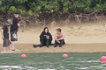 Jennifer Lawrence &amp; Shirtless Josh Hutcherson: 'Catching Fire' Sea Scenes! - catching-fire photo
