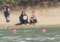 Jennifer Lawrence & Shirtless Josh Hutcherson: 'Catching Fire' Sea Scenes! - josh-and-jennifer photo