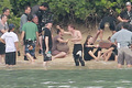 Jennifer Lawrence & Shirtless Josh Hutcherson: 'Catching Fire' Sea Scenes! - josh-hutcherson photo