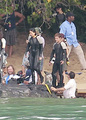Jennifer Lawrence & Shirtless Josh Hutcherson: 'Catching Fire' Sea Scenes! - katniss-everdeen photo