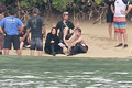 Jennifer Lawrence &amp; Shirtless Josh Hutcherson: 'Catching Fire' Sea Scenes! - peeta-mellark photo