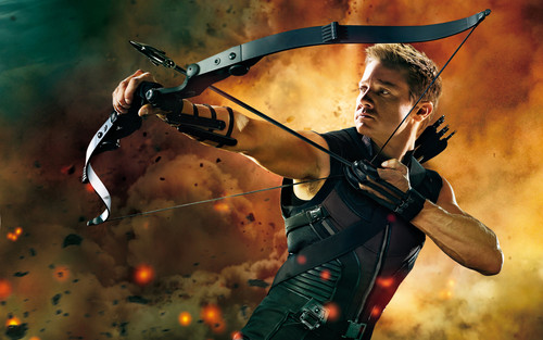 Jeremy Renner as Hawkeye in The Avengers
