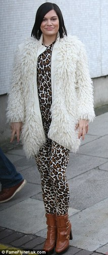 Jessie before making her way to ITV studios in London, 5th December 2012