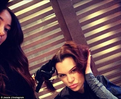 Jessie having her hair styled back into a bob, 30 November
