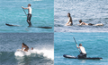 Josh Hutcherson & Jennifer Lawrence surfing in Hawaii