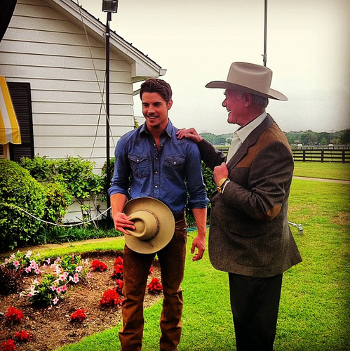 Josh and Larry Hagman