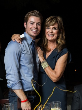 Josh Henderson wallpaper possibly with a business suit titled Josh and Linda Gray
