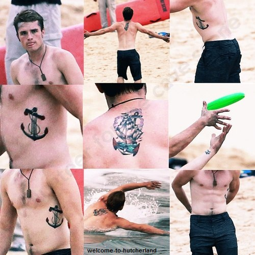 josh hutcherson wallpaper possibly with a bikini titled Josh's tato