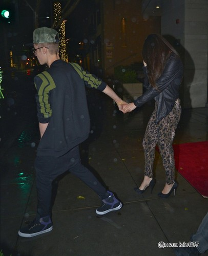 Justin & Selena  WolfGang's Steakhouse