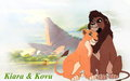 Kiara and Kovu - the-lion-king-2-simbas-pride wallpaper