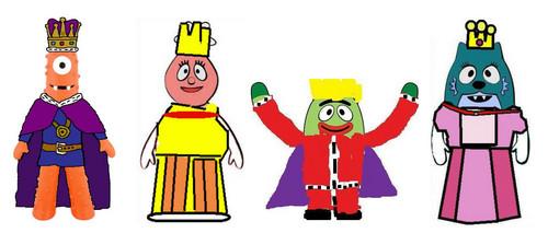 King Muno queen Foofa Prince Brobee Princess Toodee
