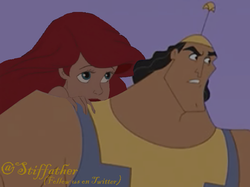 Kronk protects Ariel