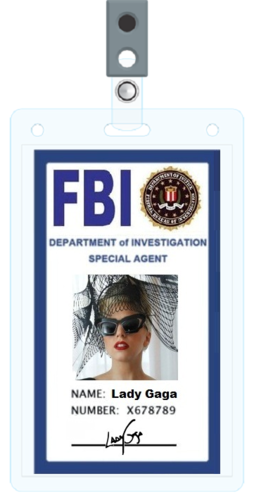 Lady Gaga FBI ID CARD